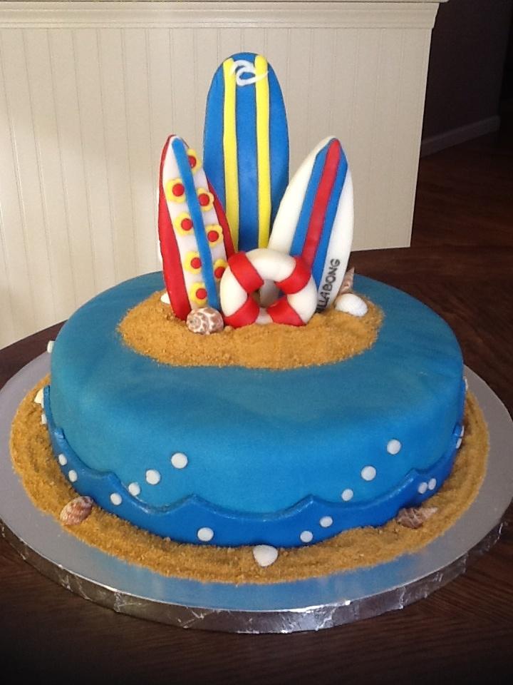 Beach Fondant Birthday Cakes