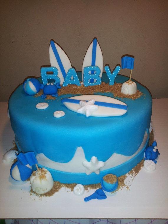 Beach Themed Baby Shower Cake