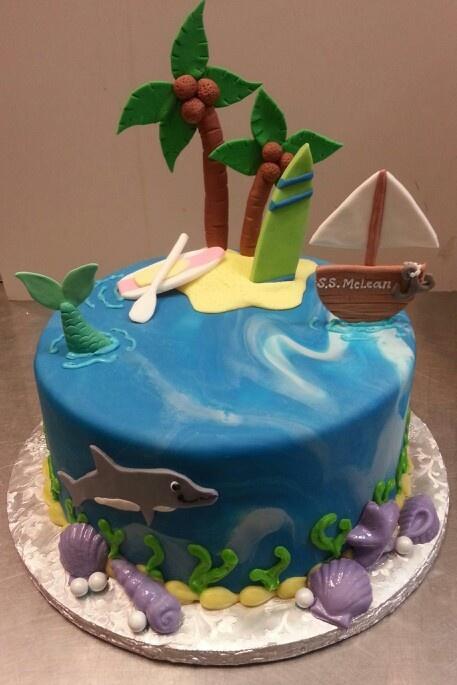 Beach Themed Fondant Cake