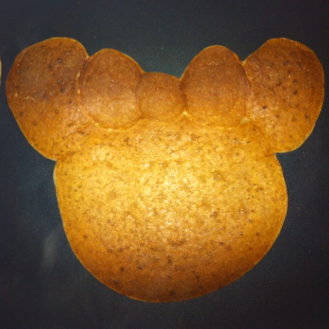 Bow Minnie Mouse Pancake with Fruit