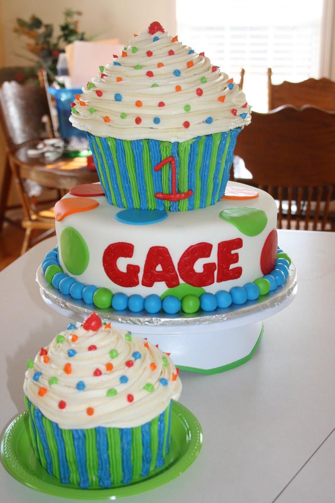 Boy 1st Birthday Cupcake Cake Ideas
