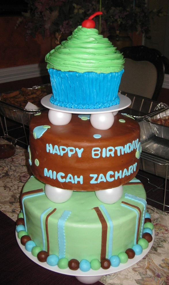Boys First Birthday Cupcake Cake Idea
