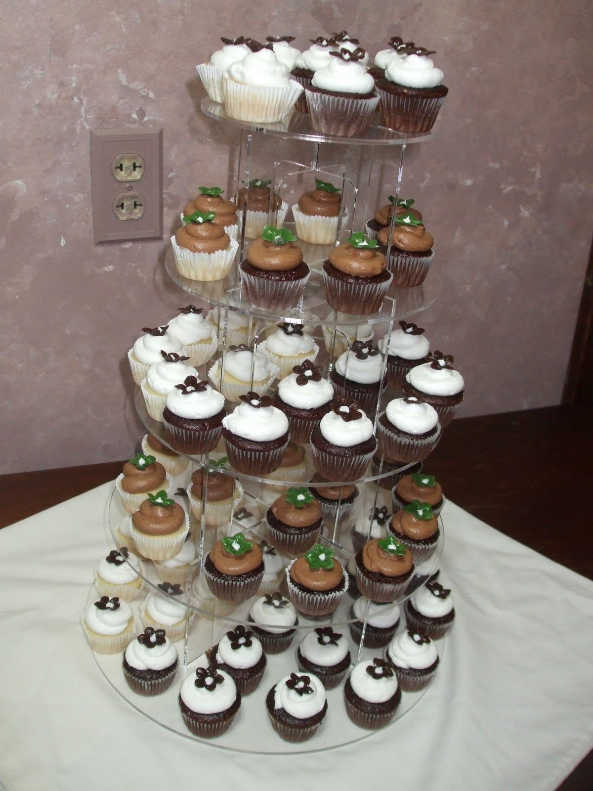 Bridal Shower Cake and Cupcakes