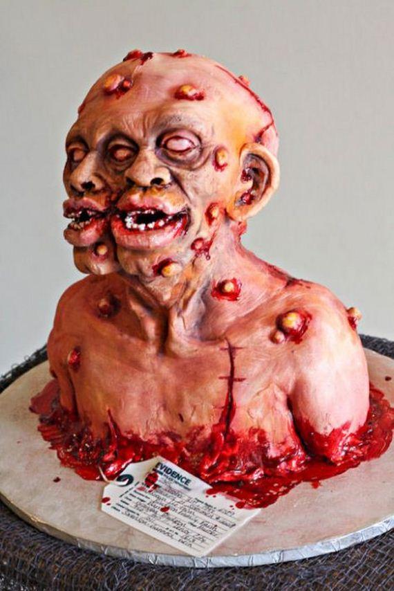 8 Photos of Scary Halloween Zombie Cakes