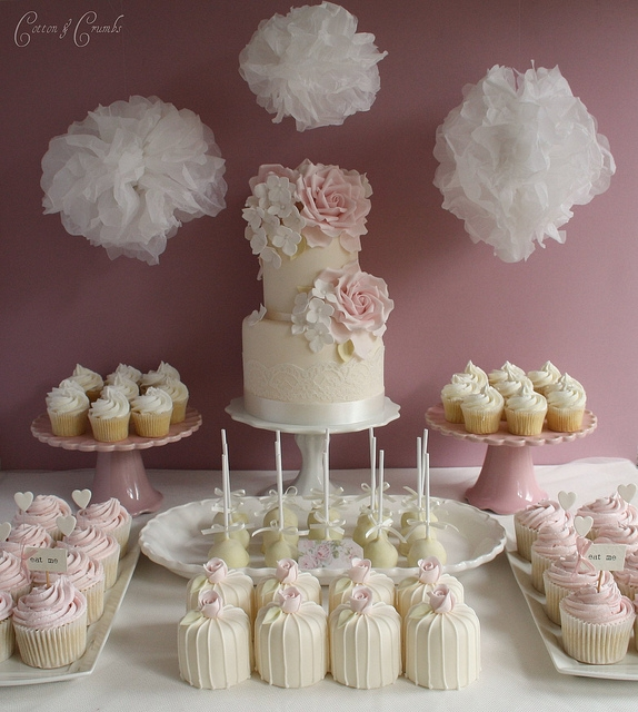 Cupcake Wedding Cake Table Display Ideas