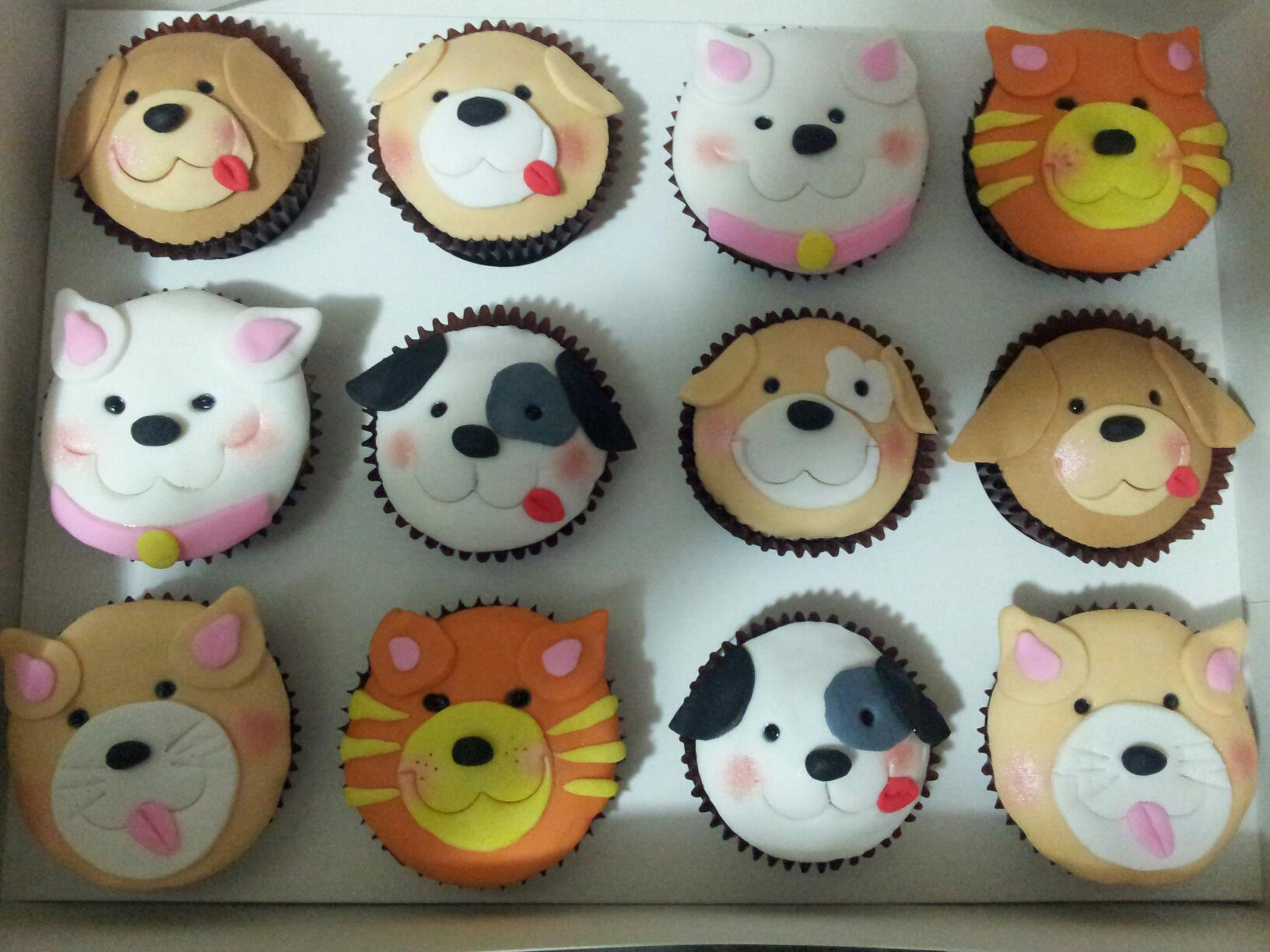 Dog and Cat Cupcake Ideas