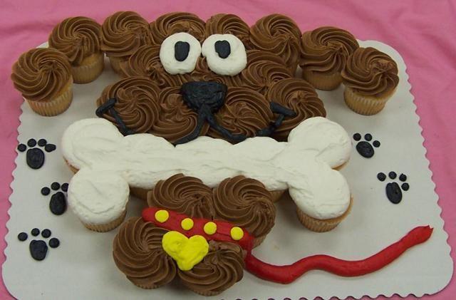 Dog Cupcake Cake