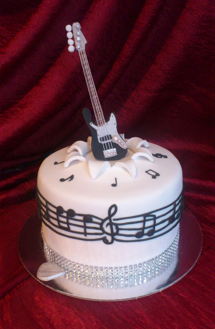 Electric Guitar Cake Happy Birthday