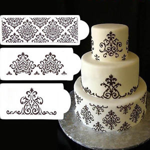 Flower Cake Stencils Lace