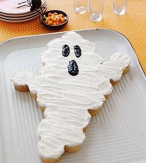 Ghost Cupcake Cake