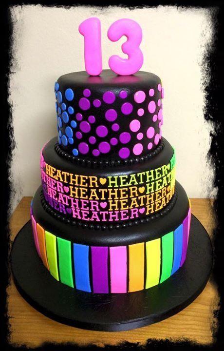 Glow in the Dark Birthday Party Cake Ideas