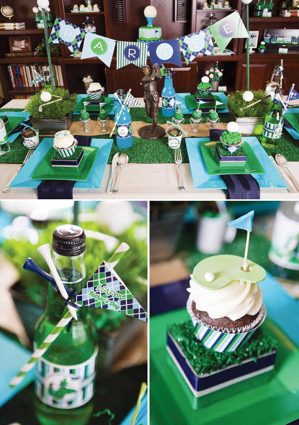 6 Photos of Golf Baby Shower Cupcakes