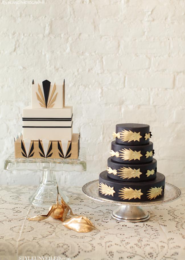 Great Gatsby Style Wedding Cake