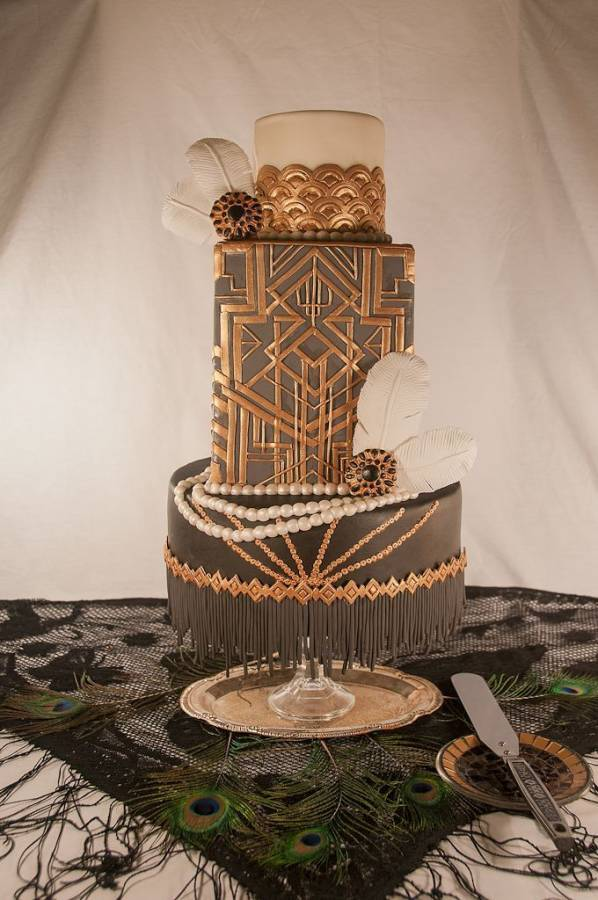Great Gatsby Themed Wedding Cake