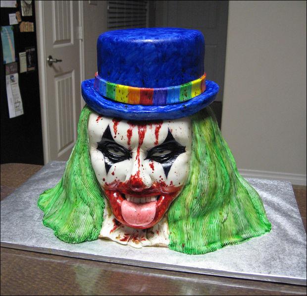 12 Photos of Clown Halloween Cakes