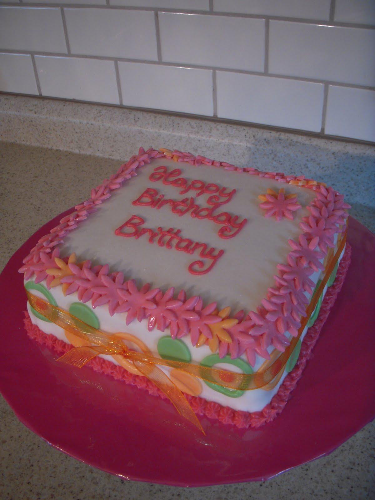 Happy Birthday Brittany Cake