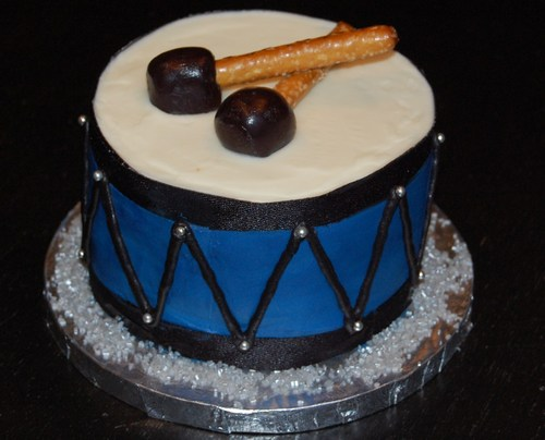 Happy Birthday Drum Cake
