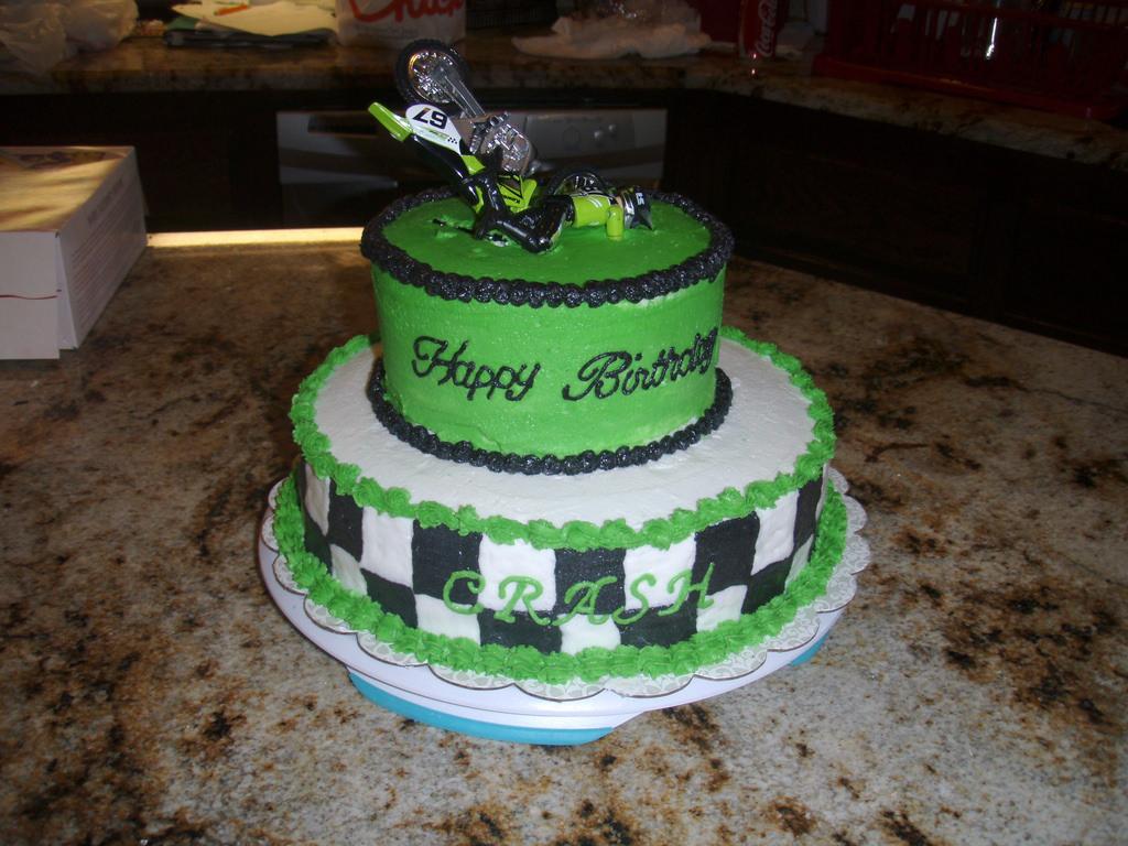 Happy Birthday Motocross Cake