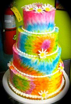 Hippie Wedding Cake