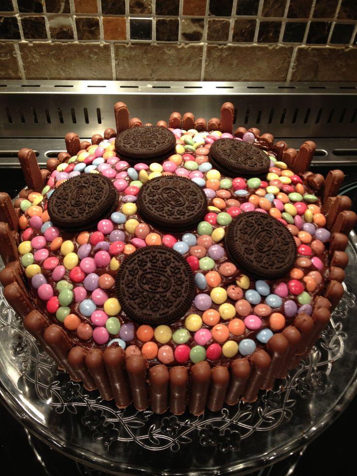 Homemade Chocolate Birthday Cake Idea