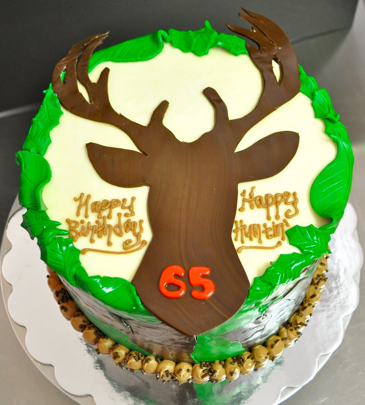 Hunting Camo Birthday Cake