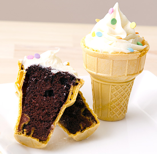 Inside Ice Cream Cone Cake