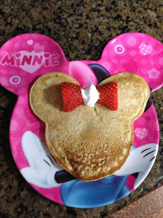 Mickey Mouse Chocolate Chip Pancakes