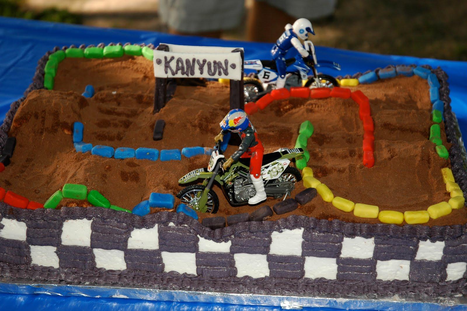 Motocross Birthday Cake