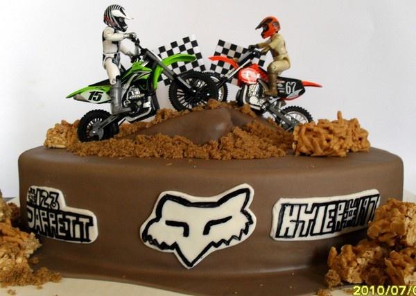 Motocross Dirt Bike Birthday Cakes