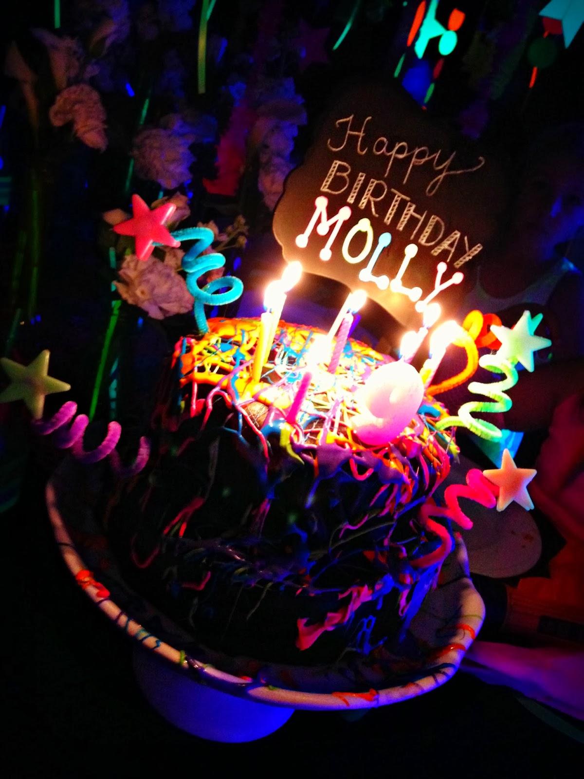 Neon Glow in the Dark Cake