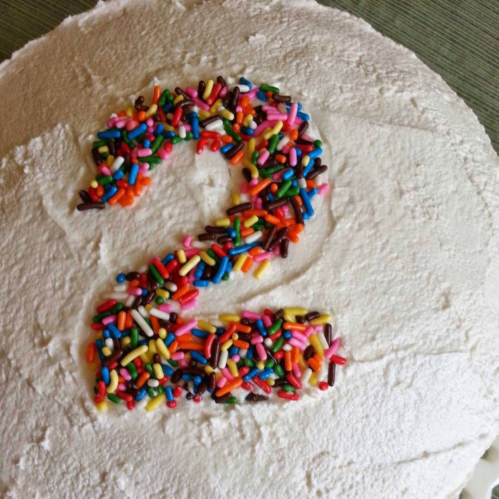 Number Birthday Cake with Sprinkles