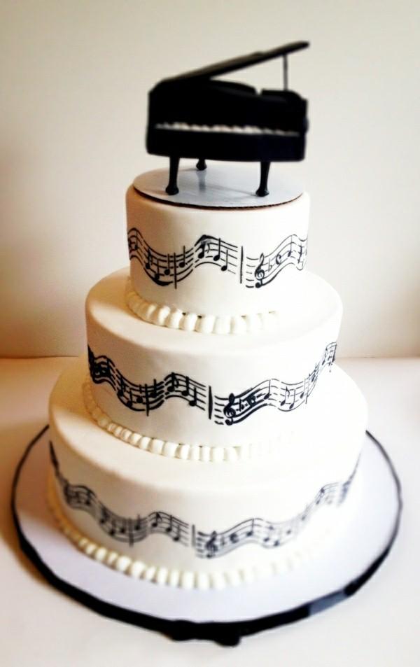 Piano Theme Birthday Cake