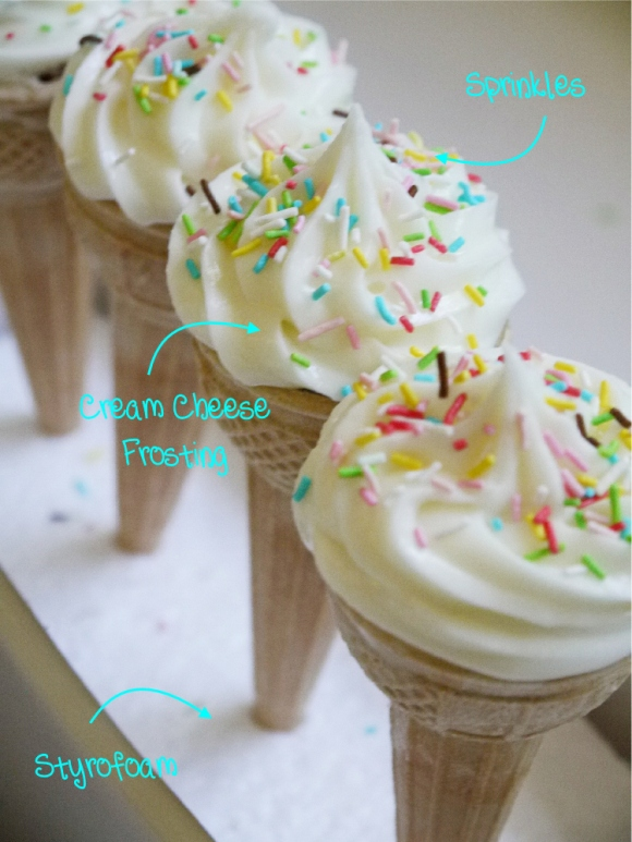 8 Photos of Ice Cream Cone Cupcakes Pool Party