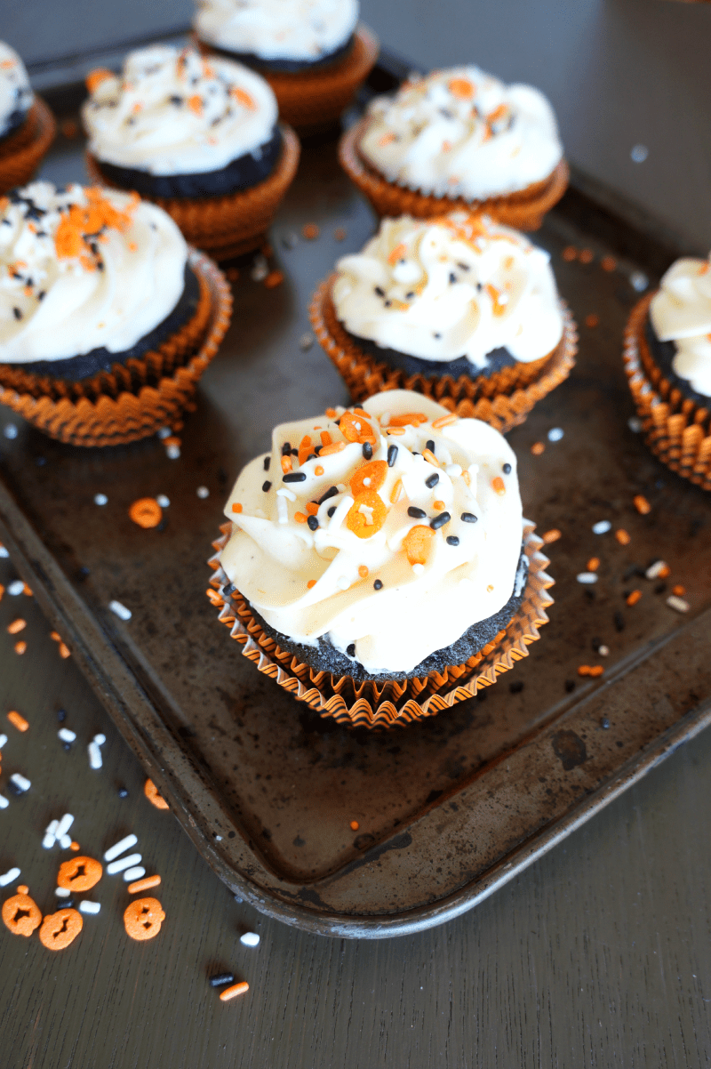 Pumpkin Cheesecake with Chocolate Cupcake