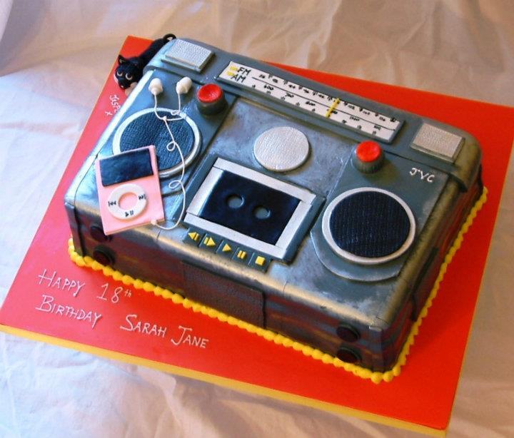 Radio Birthday Cake