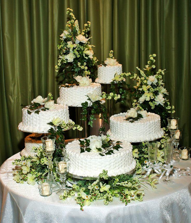 Separate Tier Wedding Cakes