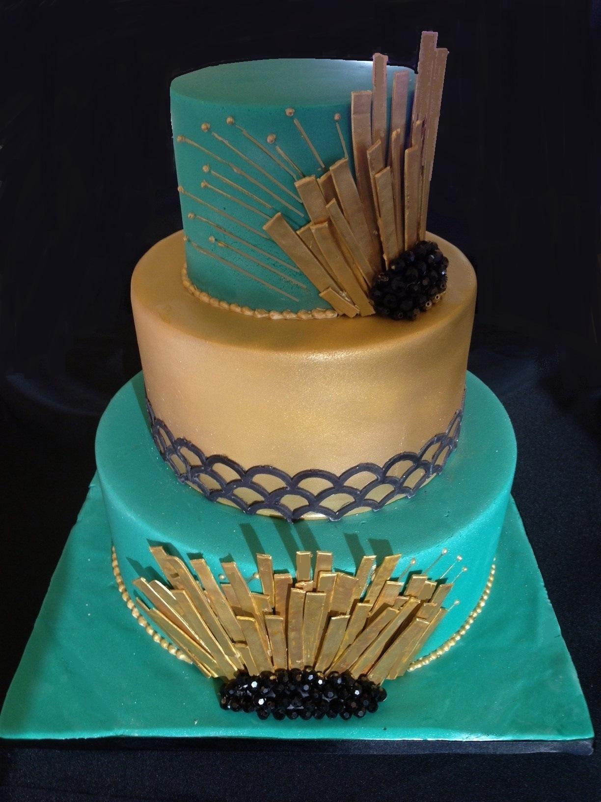 The Great Gatsby Theme Wedding Cake