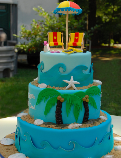 10 Photos of Tropical Beach Themed Cakes