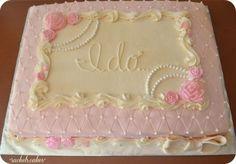 Vintage Bridal Shower Sheet Cake