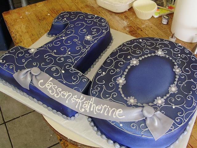 10th Year Wedding Anniversary Cake Ideas