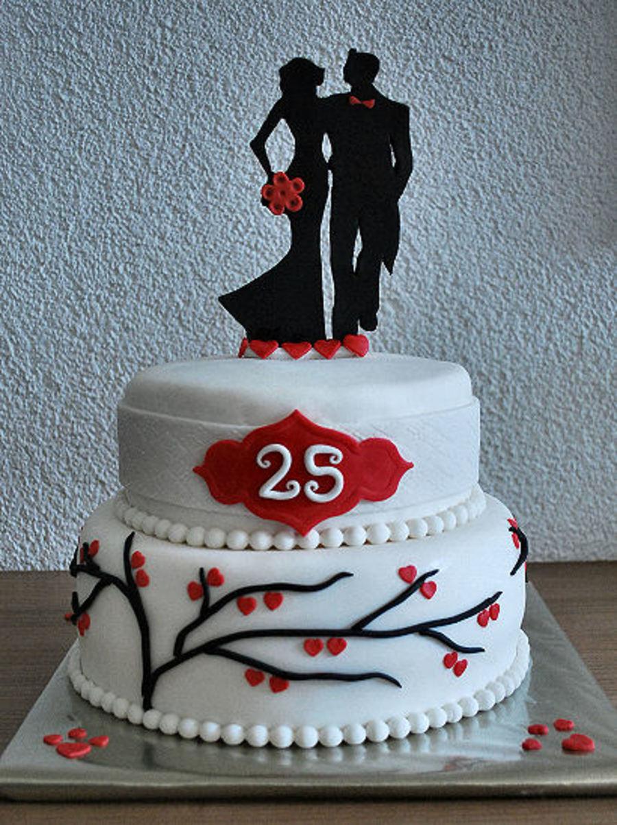 25th Wedding Anniversary Cake