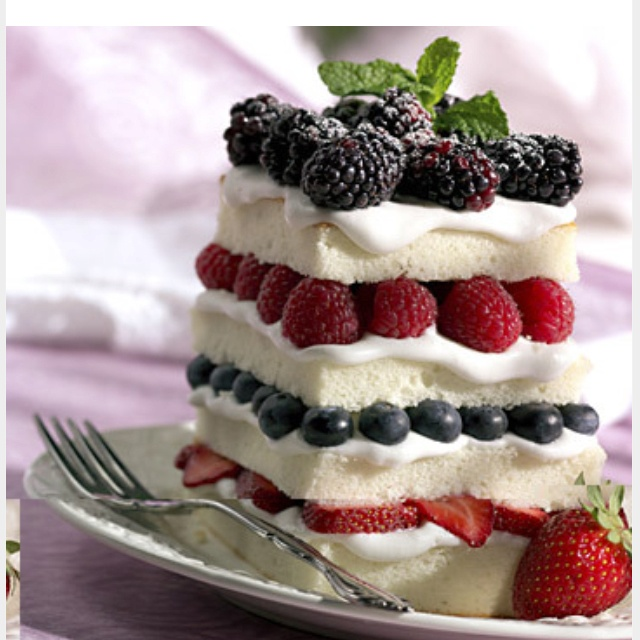 Angel Food Cake Fruit Dessert