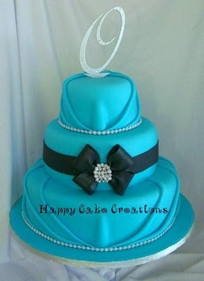 Aqua Blue Wedding Cake
