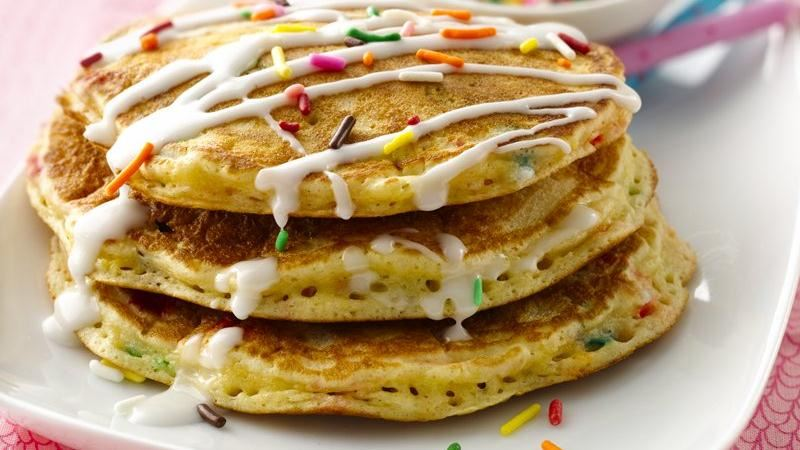 Cake Batter Pancakes Recipe