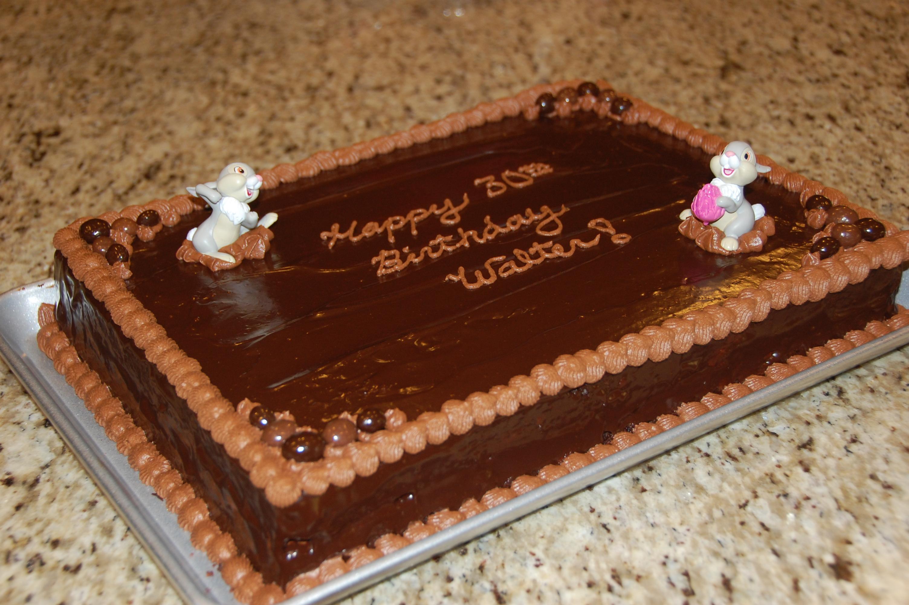 Chocolate Birthday Sheet Cake