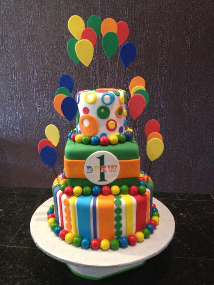 Circus Theme Birthday Cake
