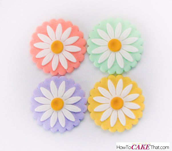Daisy Fondant Cupcake Toppers
