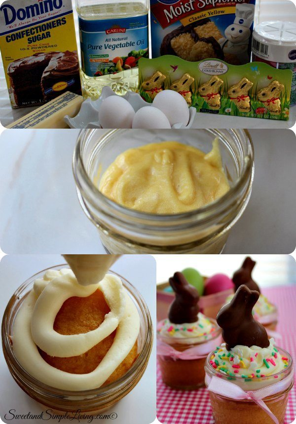 Easter Bunny Cake in a Jar