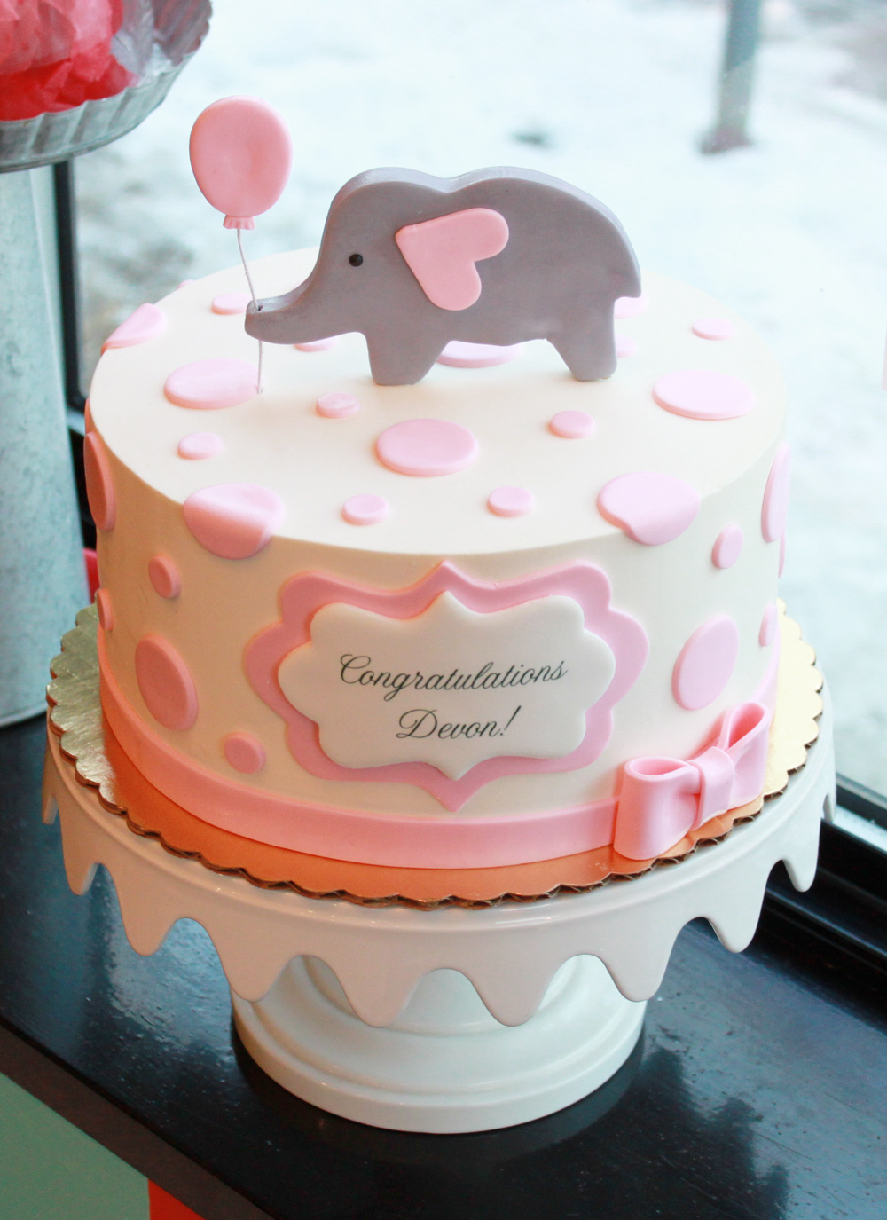 7 Photos of Elephant Baby Shower Cakes Kroger