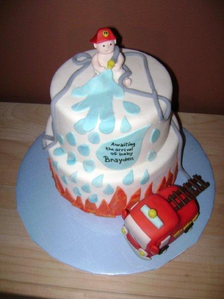 Firefighter Baby Shower Cake